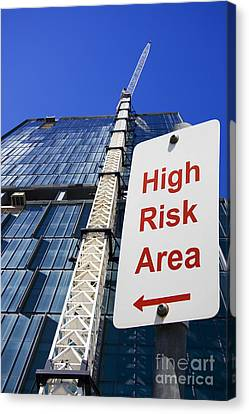 High Risk Building Site Canvas Print