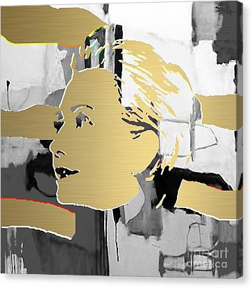 Hillary Clinton Gold Series Canvas Print by Marvin Blaine