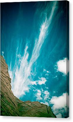 Himalyas Mountains In Tibet With Clouds Canvas Print