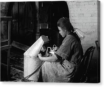 Hine Flower Factory, 1917 Canvas Print by Granger