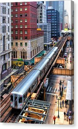 Historic Chicago El Train Canvas Print by Christopher Arndt