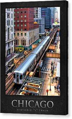 Historic Chicago El Train Poster Canvas Print by Christopher Arndt