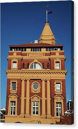 Historic Ferry Building, Auckland Canvas Print by David Wall