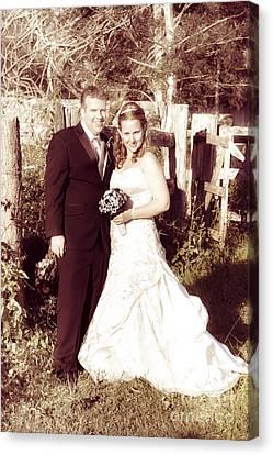 Historical Australian Wedding Couple Canvas Print by Jorgo Photography - Wall Art Gallery