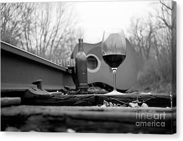 Hobos Like Wine Too Canvas Print by John Debar