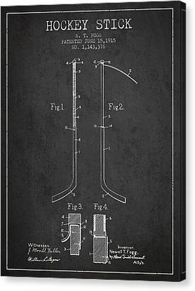 Hockey Stick Patent Drawing From 1915 Canvas Print by Aged Pixel