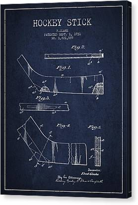 Hockey Stick Patent Drawing From 1931 Canvas Print by Aged Pixel
