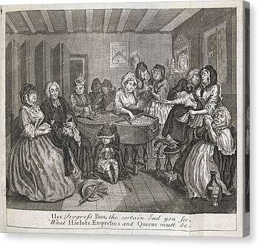 Hogarth On Venereal Disease Canvas Print by British Library