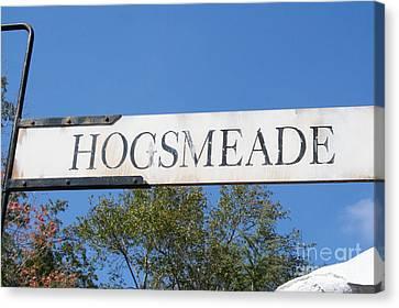 Hogsmeade Sign Canvas Print