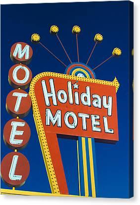 Holiday Motel Canvas Print by Matthew Bamberg
