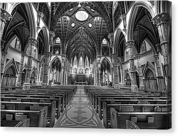 Holy Name Cathedral  Canvas Print by Linda Edgecomb
