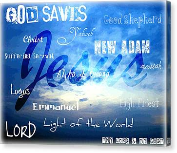 Holy Name Of Jesus Canvas Print by Sharon Soberon
