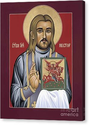 Canvas Print featuring the painting Holy New Martyr Nestor Savchuk 069 by William Hart McNichols