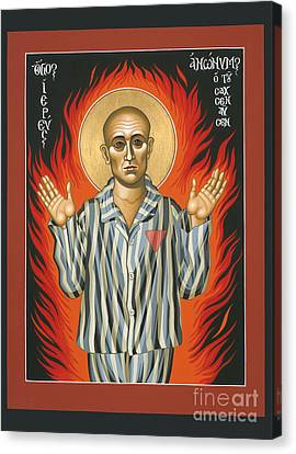 Holy Priest Anonymous One Of Sachsenhausen 013 Canvas Print