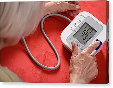 Heartbeat Canvas Print - Home Blood Pressure Testing by Aj Photo