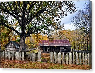 Homestead On The Buffalo Canvas Print by Marty Koch