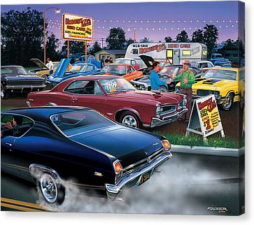 Honest Als Used Cars Canvas Print by Bruce Kaiser