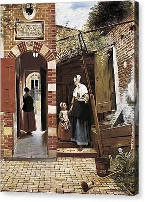 Hoock, Pieter Cornelisz 1629-1684. The Canvas Print by Everett