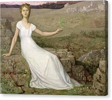 Hope Canvas Print by Pierre Puvis de Chavannes