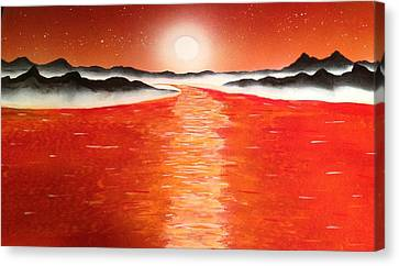 Canvas Print featuring the painting Horizon by Michael Rucker