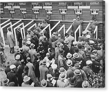 Horse Race Betting Canvas Print by Underwood Archives