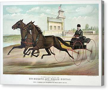 Horse Racing, C1889 Canvas Print by Granger