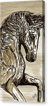 Horse Twins I Canvas Print by Erich Grant