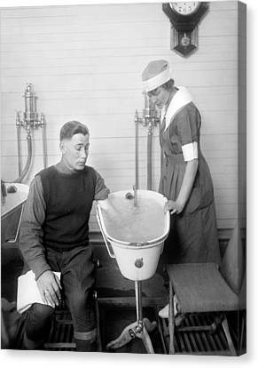 Hot Nurses Canvas Print - Hospital Hydrotherapy, 1920s by Science Photo Library