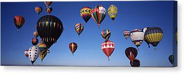 Hot Air Balloons Floating In Sky Canvas Print