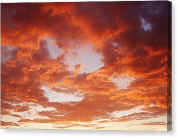 Hot Sky Canvas Print by Les Cunliffe