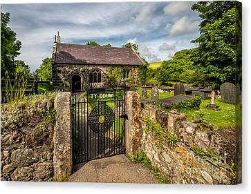 Cemetary Canvas Print - House Of God by Adrian Evans