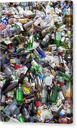 Household Waste At A Recycling Plant Canvas Print by Jim West