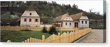 Houses In A Village, Biertan Canvas Print