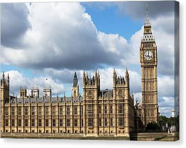 Houses Of Parliament Canvas Print by Mark Thomas