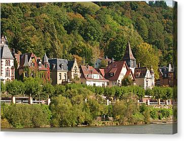 Michael Canvas Print - Houses On The North Side Of Neckar by Michael Defreitas