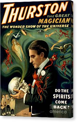 Howard Thurston, American Magician Canvas Print by Photo Researchers
