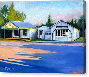 Huckstep's Garage Free Union Virginia Canvas Print by Catherine Twomey