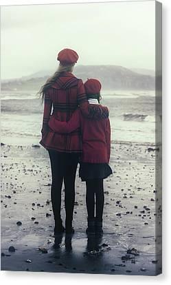 Hugging Canvas Print
