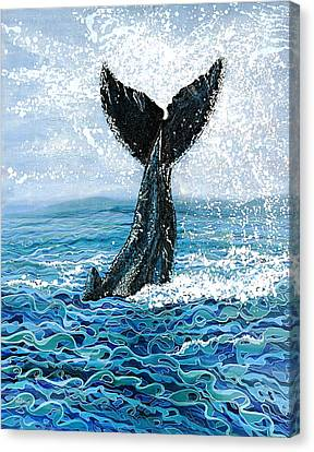 Humpback Flukes Canvas Print