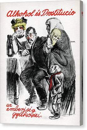 Hungarian Communist Propaganda Poster Canvas Print