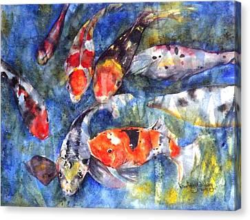 Hungry Koi Canvas Print