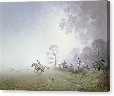 Hunting Scene Canvas Print by Ninetta Butterworth