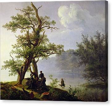 Hunting Waterfowl Canvas Print by Thomas Fearnley