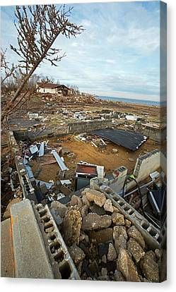 Hurricane Sandy Canvas Print - Hurricane Sandy Damage by Jim West