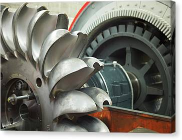 Hydroelectric Power Turbine Canvas Print by Ibm Research