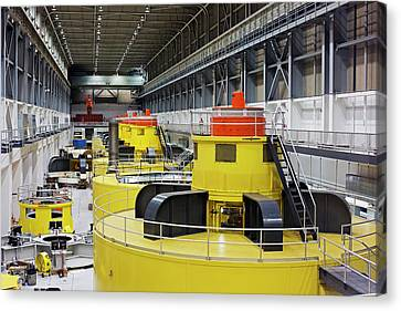 Hydroelectric Turbines Canvas Print by Jim West