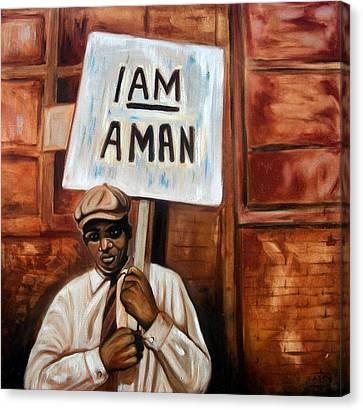 I Am A Man Canvas Print by Emery Franklin