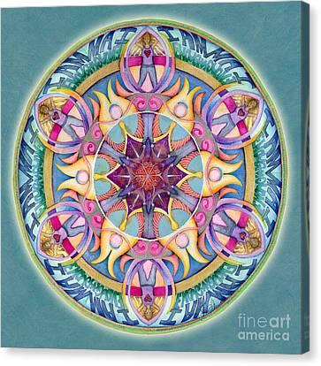 I Am Enough Mandala Canvas Print by Jo Thomas Blaine