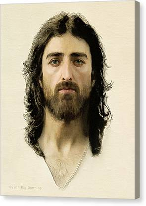 Crucifixion Canvas Print - I Am The Way by Ray Downing