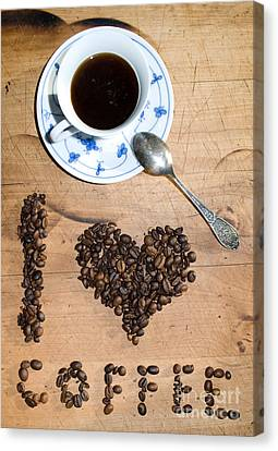 I Love Coffee Canvas Print by Sarka Olehlova